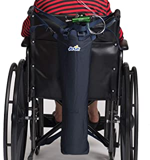 Roscoe Medical Oxygen Tank Bag for Wheelchair/Scooter - Portable Oxygen Carrier for D, M6 or C/M9 Canned Oxygen Cylinders, Navy Blue