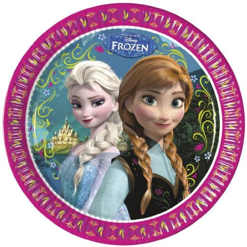 8 Teller * Frozen - Die Eiskönigin * für Party und Geburtstag // Geburtstag Party Fete Set Disney Prinzessin Anna Mädchen Mottoparty