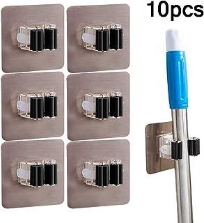 10 piezas Organizador de escoba con soporte de fregona,