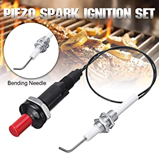Martinimble Set Ignition Leads Set Lgnition Lead Piezo Spark Ignition Set Universal 30cm Piezo Spark Ignition Set for Heater Radiator Gas Grill Cooker BBQ
