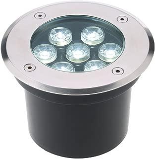 Tomshine 5W AC/DC 12V 埋め込み式LED スポットライト 550LMハイパワー 強化ガラス IP67防水対応  ガーデンライト 玄関先 屋外照明 遊歩道 (7W, 5800-6500K)
