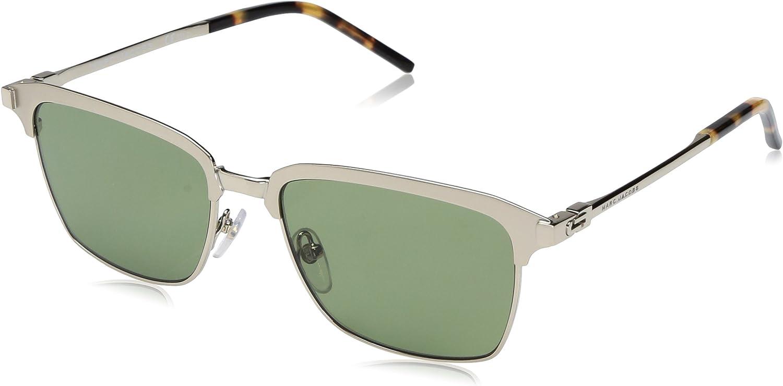 Marc Jacobs Women's Marc137s Rectangular Sunglasses, Semi Matte gold Green, 55 mm
