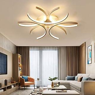 LED Plafonnier Dimmable Moderne avec Télécommande, Forme de Fleur Design Salon Lampe Métal Acrylique Lampe de Plafond Lust...