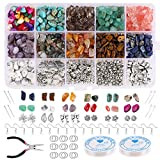 HIFOT manualidades adultos Kits abalorios para hacer bisutería pendientes collares pulseras set, Cuentas piedra Dijes Joyas DIY Joyería Bricolaje para Mujeres Niñas