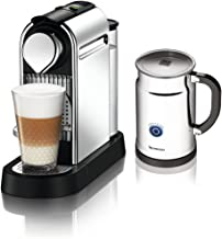 Nespresso Citiz C111 Espresso Maker with Aeroccino Plus Milk Frother, Chrome