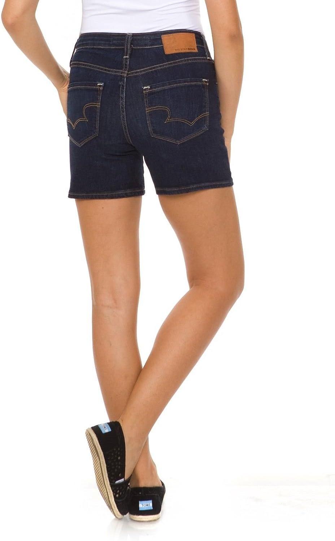 Big Star Women's Luna High Waist Denim Shorts in Tribe 26