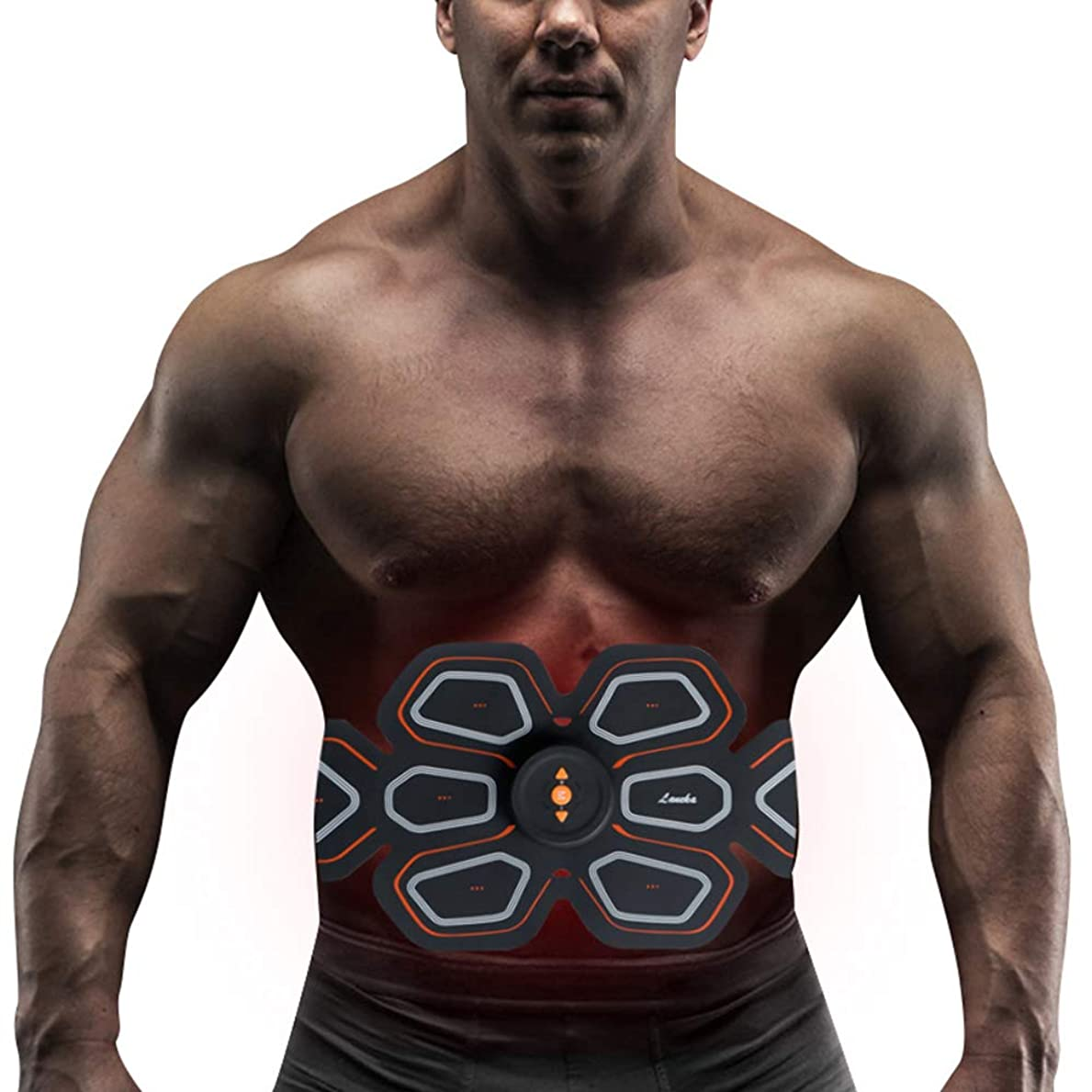 未接続体現するナチュラルスマート腹部筋肉トレーナーusb電気マッサージフィットネス機器EMS筋肉刺激装置体重減少マッサージスポーツフィットネス機器ユニセックス