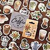 BLOUR 45pcs / Pack Vintage Rooftop Coffee Shop Stickers Set Scrapbooking Stickers For Journal Planner DIY Crafts Scrapbooking Diary