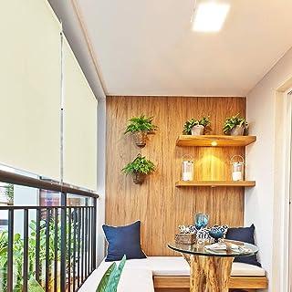 HENGMEI 100x240cm Estor Toldo protección contra el Viento Vertical Persiana Enrollable para balcón, Exterior, Beige