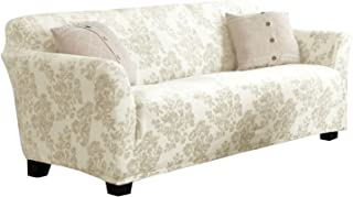 Best Velvet Plush Stretch Sofa Slipcover. Velvet Sofa Couch Furniture Protector, Soft Anti-Slip, High Stretch for 3 Seat Sofa. (Sofa- 3 Seater, Silver Cloud - Toile) Review