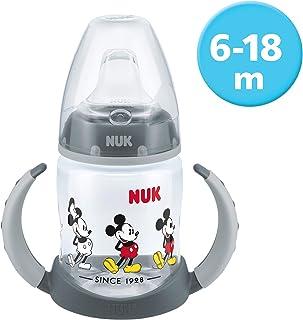 NUK Active Cup Disney Winnie 300/ml con boquilla de silicona a partir de 12/meses, antigoteo con clip, sin BPA naranja naranja