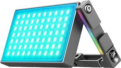 Montloxs RGB Video LED Light Kleurlamp 360°8W 2700-8500K dimbaar CRI95 + 20 lichteffecten met ingebouwde 5000mAh batterij
