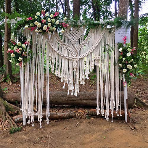 Christmas Sale Bohemian Macrame Wedding Backdrop Decor Boho Chic Macrame wall Hanging Style Macrame Tapestry Macrame Curtain & Macrame Arch 185 Cm X 215 Cm
