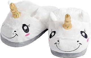 Alsino Chaussons licorne pour femme et enfant - Chaussons chauds et moelleux - Semelle antidérapante - Idée cadeau