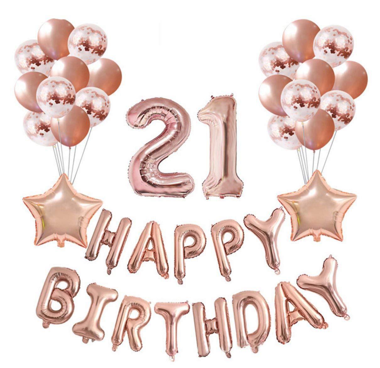 Crazy M Geburtstag Deko Set Nummer 8 Luftballon Rosegold Mädchen ...