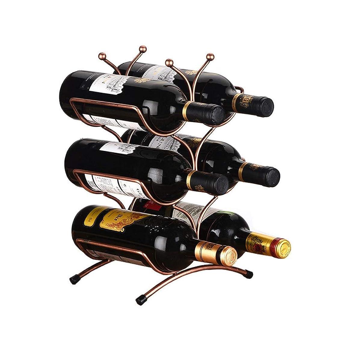 月面ルビーケントSRX ワインラックは、3層積み重ね可能なワインラック - クラシックワインラック - 6本のボトル、金属 - バー、キャビネット、パントリー、等に適し