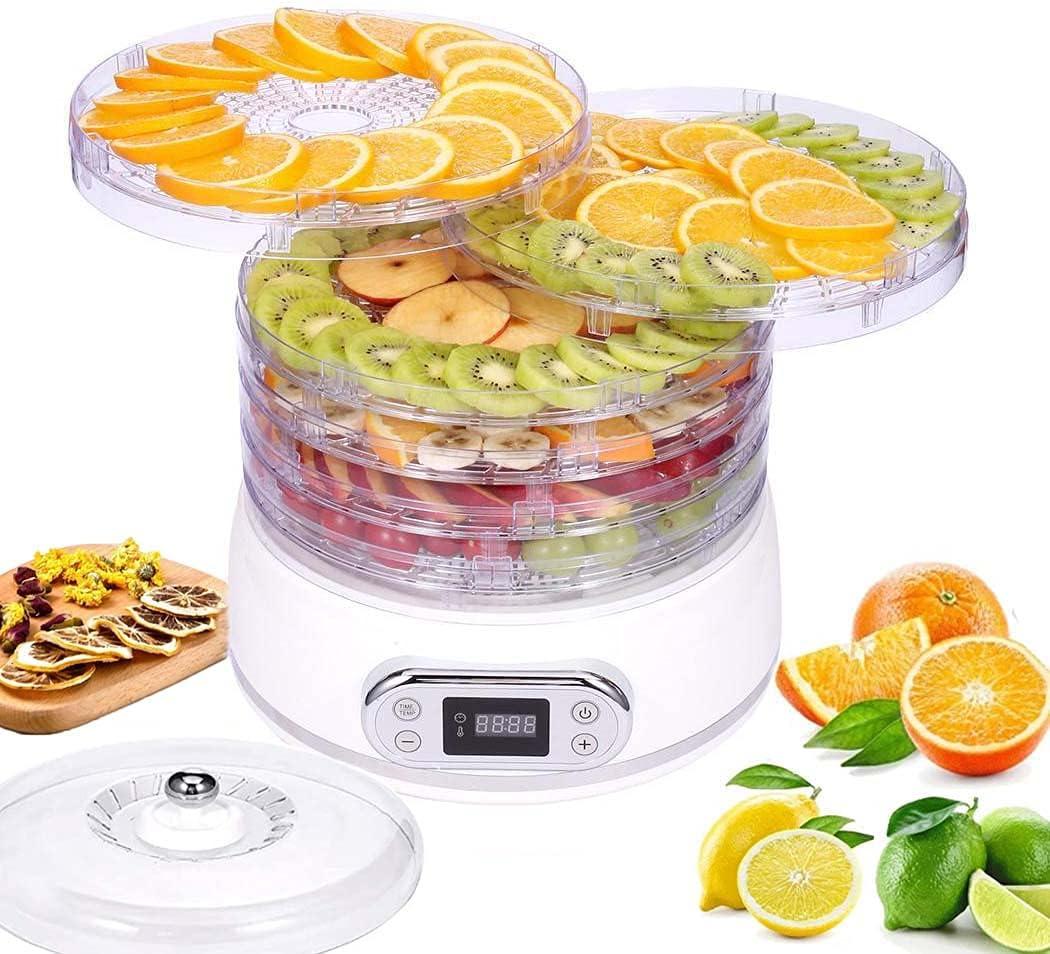 Food Dehydrator Machine 6-Trays Portland Mall Dryer Import Timer with Digital Tempe