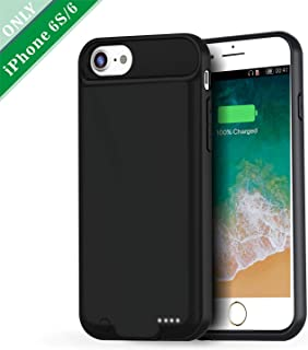 VORCSBINE iPhone 6S/6 Battery Charging Case, 3000mAh Protective Charger Case-Black(4.7inch)
