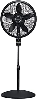 Lasko 1843 18″ Remote Control Cyclone Pedestal Fan with Built-in Timer, Black Features Oscillating Movement and Adjustable Height