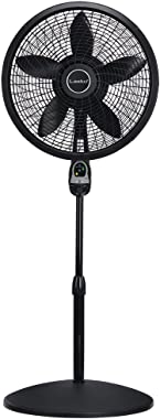 Lasko 1843 18″ Remote Control Cyclone Pedestal Fan with Built-in Timer, Black Features Oscillating Movement and Adjustable He