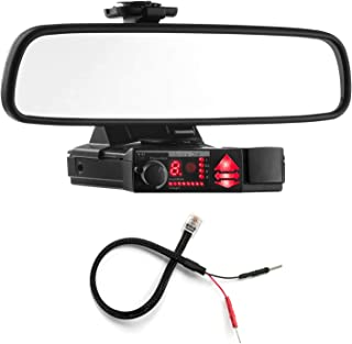 Radar Mount Mirror Mount Bracket + Mirror Wire Power Cord - Valentine V1 Radar Detector