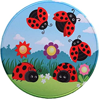 MissOwl Mouse Pad Round Non-Slip Rubber Base Mouse Mat Durable Stitched Edges for Laptop Computer Notebook Office Home Wor...