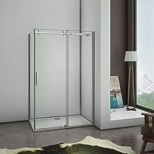 MELAG Joint de Porte de Douche,pour paroi en Verre 6-12 mm de Forme Droite ou incurv/ée,Bonne Isolation Thermique,Isolation phonique