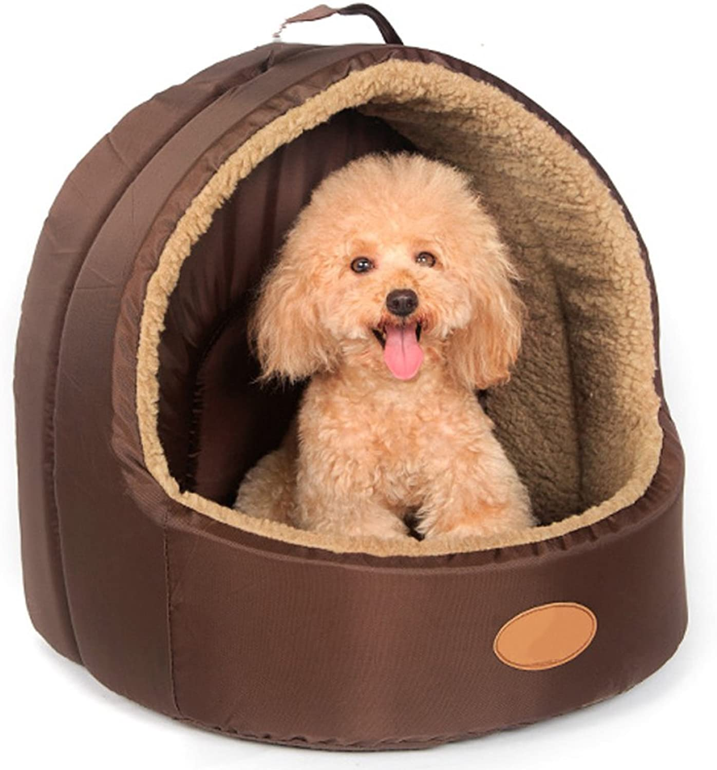 Kennel Washable Dog House Doghouse Cat Litter Pet Dog Supplies Winter Warm Kennel,BL33W30H30cm 13  12  12in