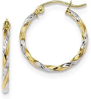 10k Yellow Gold Twisted Hoop Earrings Ear Hoops Set Fine Jewelry Gifts For Women For Her