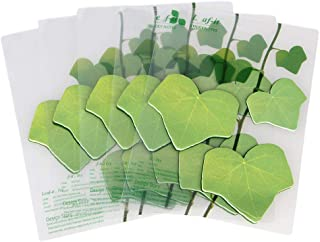 5 Pcs Leaves Shape Bookmark Sticky Notes Self Stick Notes Memo for Office Green