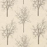 Fabulous Fabrics Dekostoff Baum 4 – Schlamm — Meterware