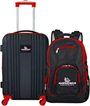 """Denco Gonzaga University Bulldogs 2-Piece Luggage Set, Includes 21-inch Two-Tone Hardcase Spinner and 19"""" Laptop Backpack"""