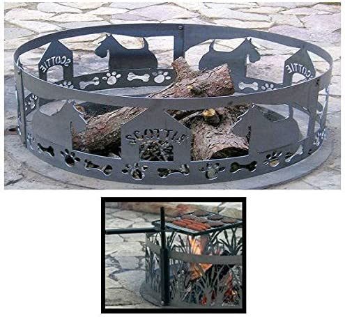 PD Metals Steel Campfire Fire Ring Max 47% OFF NEW with Design Unpainted Scottie