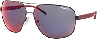 نظارات شمسية مربعة معدنية | X Armani Exchange AX2030S