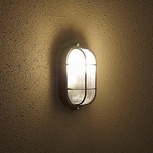 Biard - Eclairage de sécurité E27- Lampe murale ovale d'extérieur - Lampe cage - IP54, Pack of 1