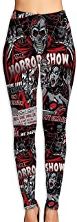 NGFF Women's Horror Movie Skull Spook Show High Waist Yoga Pants Workout Comfort Stretchy Leggings
