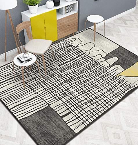 NAZAR Tapis DE Salon Moderne - Design Quadri-Tendance - DE DIFFERENTE Taille ET Couleur (Jaune, 160x230cm)