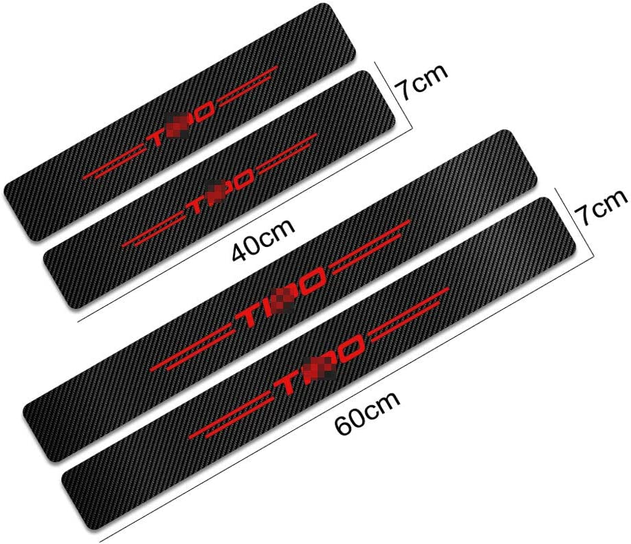BNHHB 4pcs Carbon Fiber Car Outer Door Sill Protector Kick Plates For Fiat Tipo Anti-Dirty Scuff Guard Threshold Cover Pedal Auto Anti Scratch Tuning Accessories