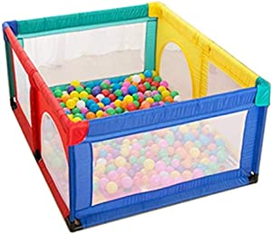 MWPO Baby safety barrier with 100 balls and baby blankets  children s play area with storage basket 120 times  150 times  Pages  Color