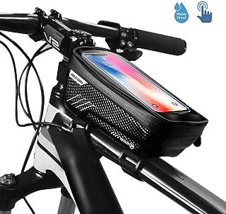 EiioX Bicycle Frame Bag, Bike Frame Bag Waterproof Bike Pouch Bag Bike Handlebar Bag Cycling Front Top Tube Touchscreen Phone Mount for iPhone Samsung Huawei Smartphone up to 6.5''