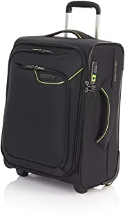American Tourister Applite 4 50cm Case Soft Suitcase Luggage Trolley Black Small