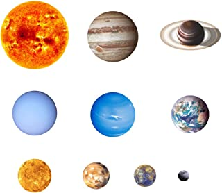 Haihuic Planet Glow in The Dark Wall & Ceiling Stickers, Night Light Luminous Wall Decal Solar System Stickers, for Kids, ...