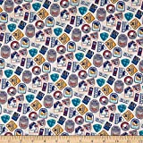 Northcott 0641736 Hit The Slopes Ski Badges Cream Fabric