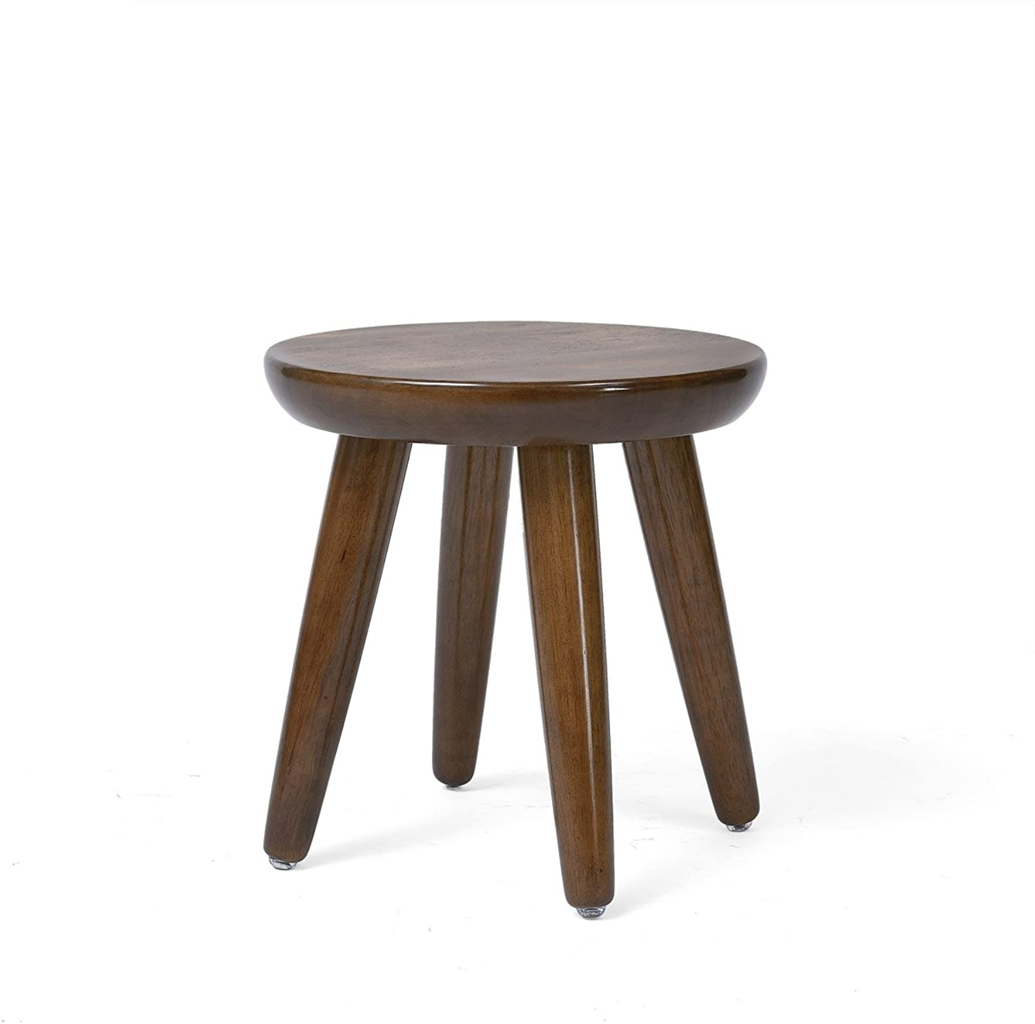Solid Wood Stool Creative Round Stool Small Round Table Stool Stool Fashion Stool Stool Stool Stool Home Small Stool (color   2 , Size   A)