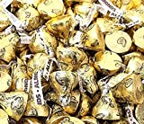 CrazyOutlet Hershey's Kisses Milk Chocolate with Almonds, Gold Foil, Mother's Day Candy, Bulk 2 Lbs