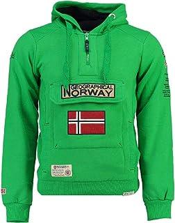 Geographical Norway GYMCLASS - Felpa da uomo, colore: verde, taglia L