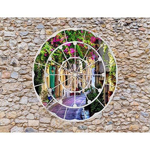 Fototapete Fenster nach Toscana Vlies Wand Tapete Wohnzimmer Schlafzimmer Büro Flur Dekoration Wandbilder XXL Moderne Wanddeko - 100% MADE IN GERMANY - Runa Tapeten 9056010b