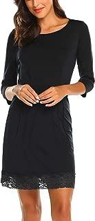 Women's 3/4 Sleeve Elegant Pleated Dress Mini Dress Extenders S-XL