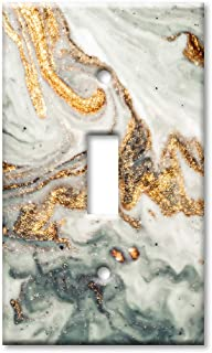 Art Plates 1 Gang Toggle Wall Plate - Gold Granite