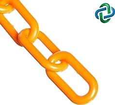Mr. Chain Plastic Barrier Chain, Safety Orange, 1.5-Inch Link Diameter, 25-Foot Length (30012-25)